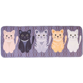 Floor Mat with Cat Design - Assorted Colors