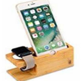 iPhone and iWatch Wooden Stand