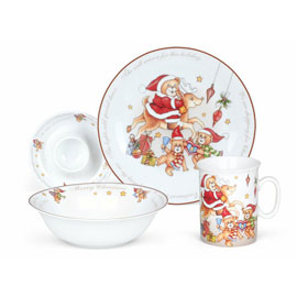 4-Piece Dinnerware Set (Christmas Theme)