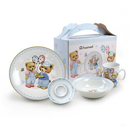 4-Piece Dinnerware Set (Bear Theme)