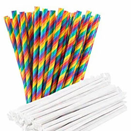 Paper Straw Packs - Assorted Colors (100/200/320 pcs)