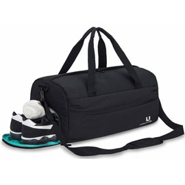 Water Resistant Gym Bag with Shoe Compartment