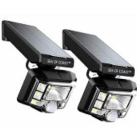 Outdoor Wireless Solar Lights (2-pack) - Assorted Colors
